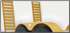 FM, FH and SL Series Flatbed Trailer - Diamond Plated Fenders